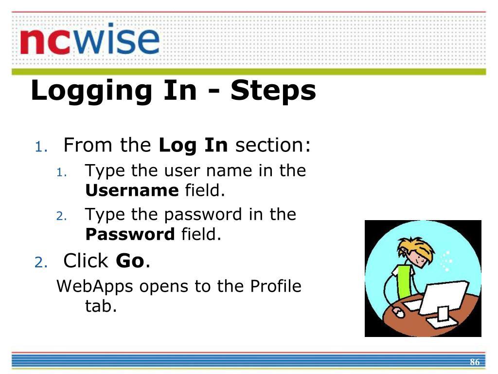 Logging In - Steps