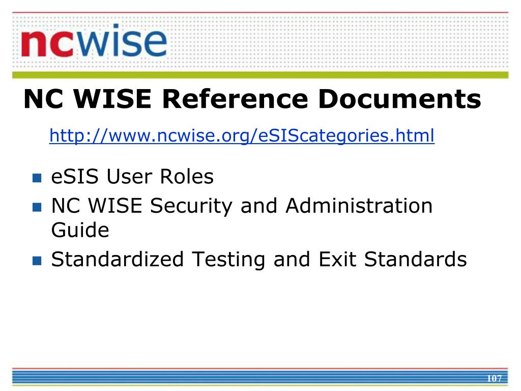 NC WISE Reference Documents