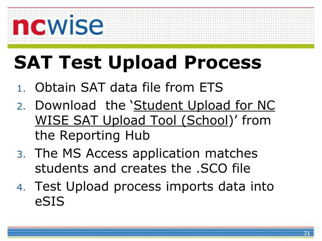 SAT Test Upload Process