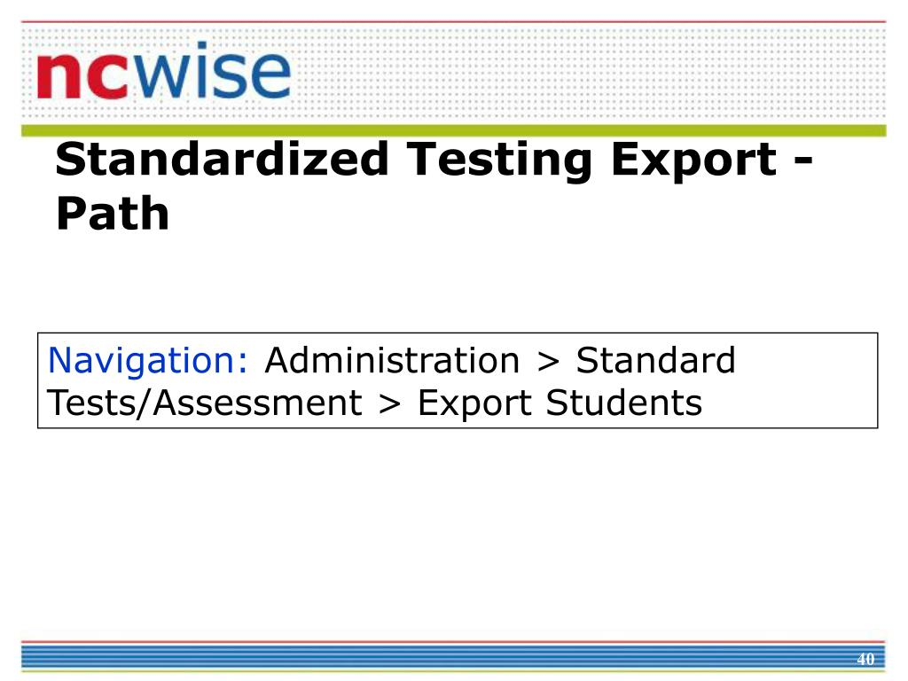 Standardized Testing Export - Path