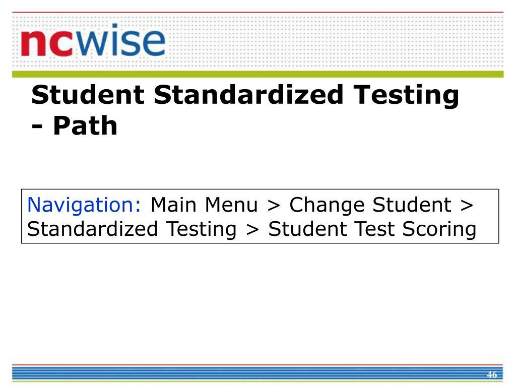 Student Standardized Testing - Path