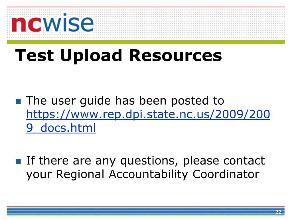 Test Upload Resources