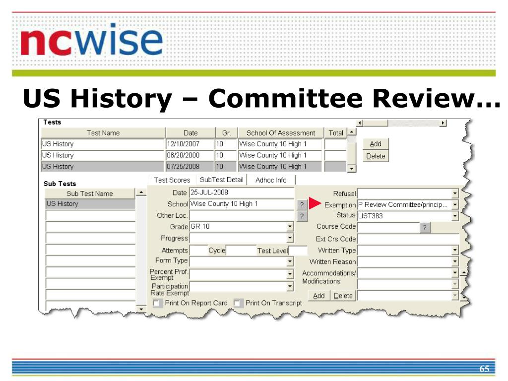 US History – Committee Review…