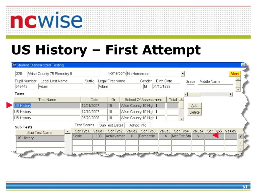 US History – First Attempt