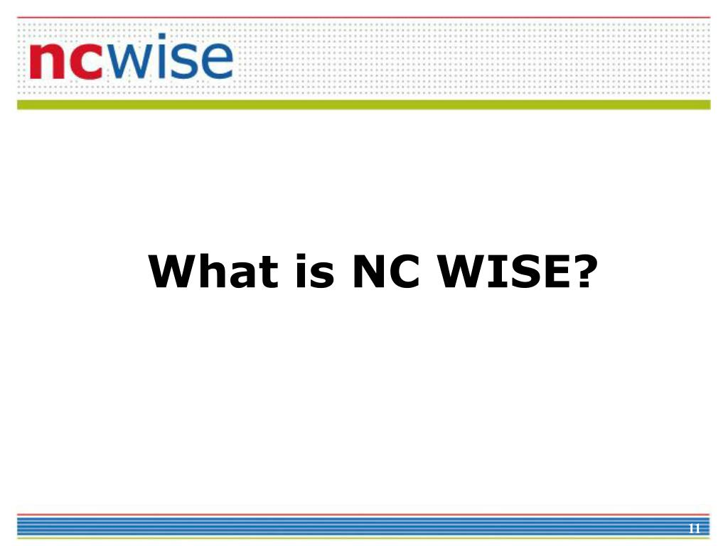What is NC WISE?