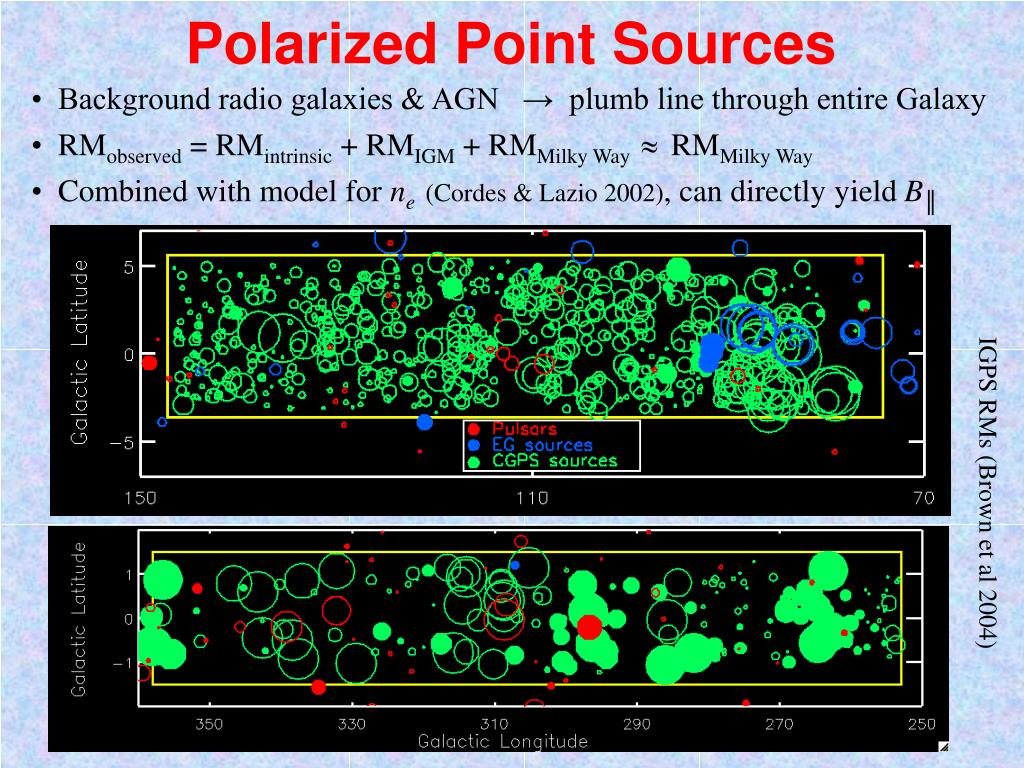 Polarized Point Sources
