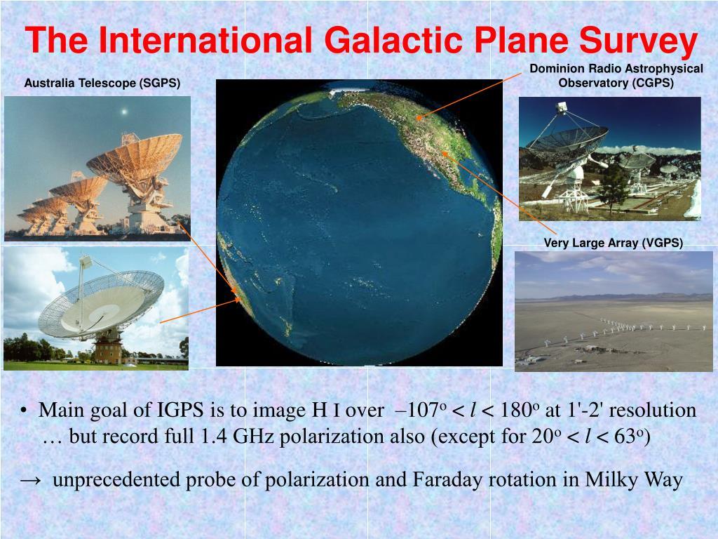 The International Galactic Plane Survey