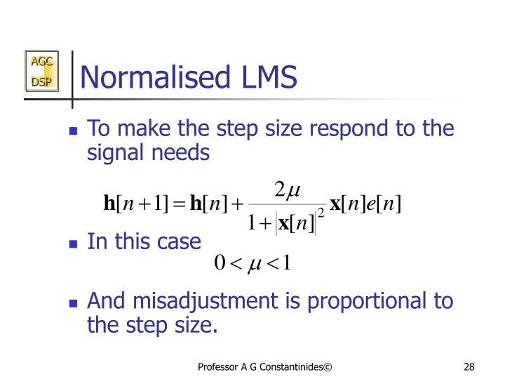 Normalised LMS