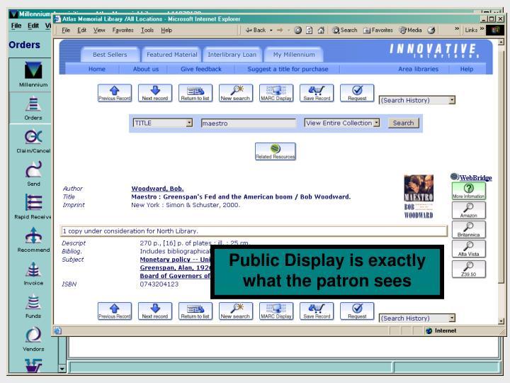 Show public view