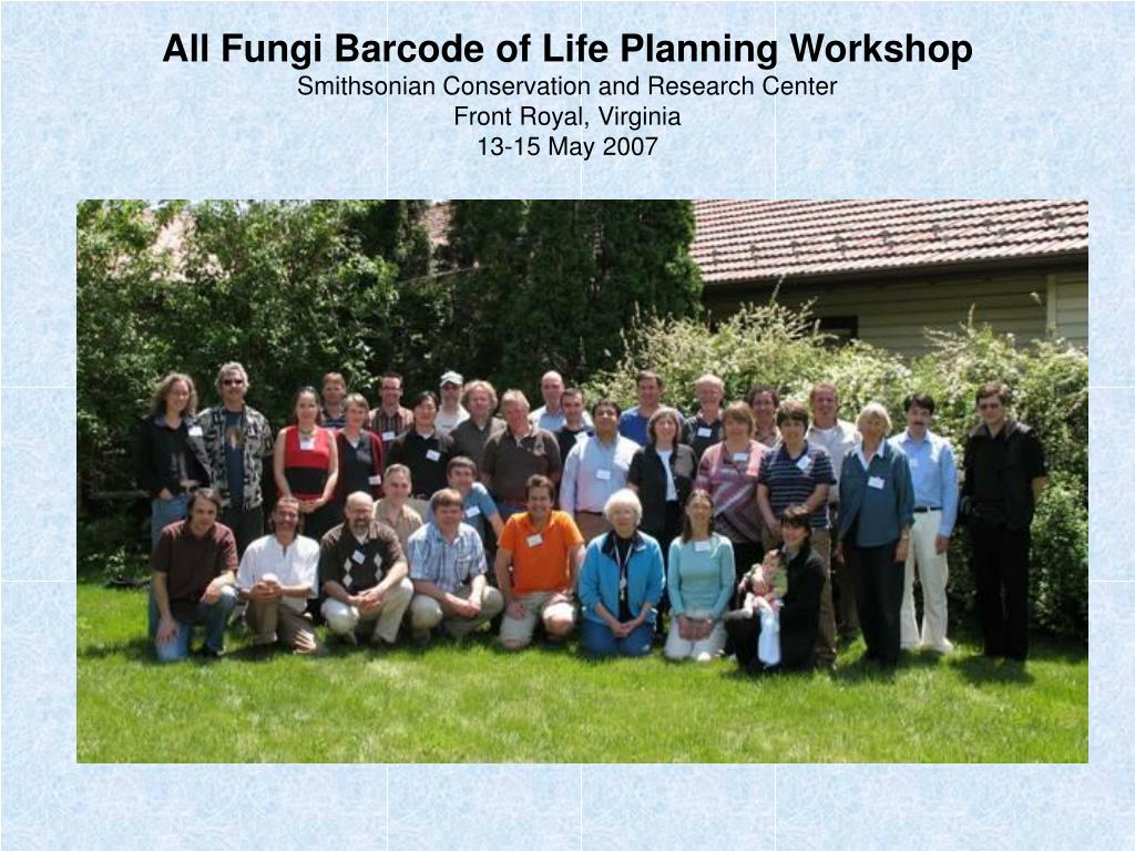 All Fungi Barcode of Life Planning Workshop