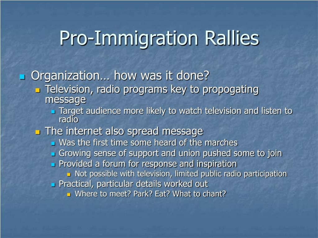 Pro-Immigration Rallies