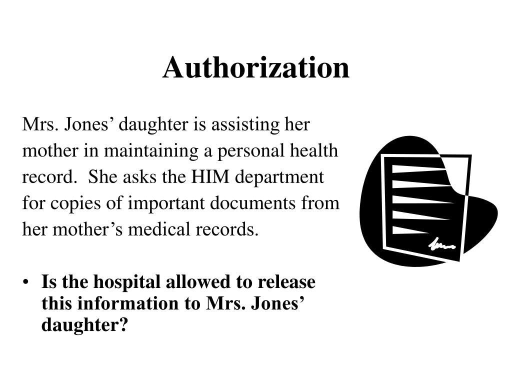 Mrs. Jones' daughter is assisting her