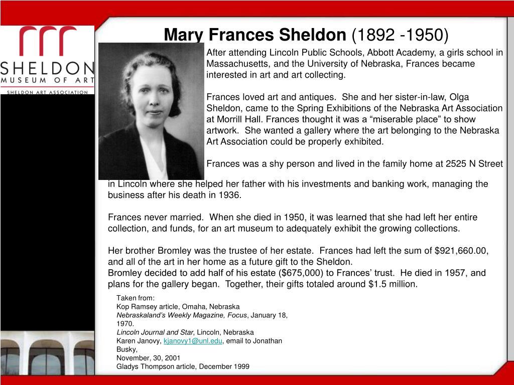 Mary Frances Sheldon