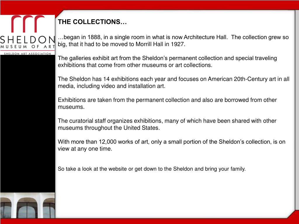 THE COLLECTIONS…