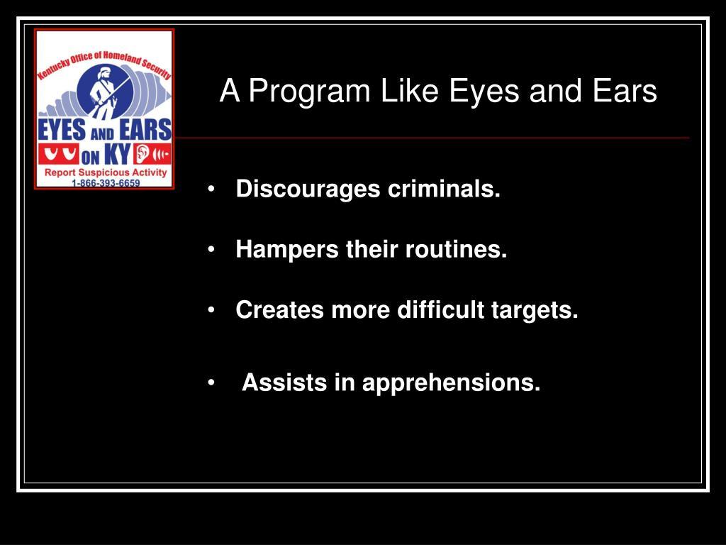 A Program Like Eyes and Ears