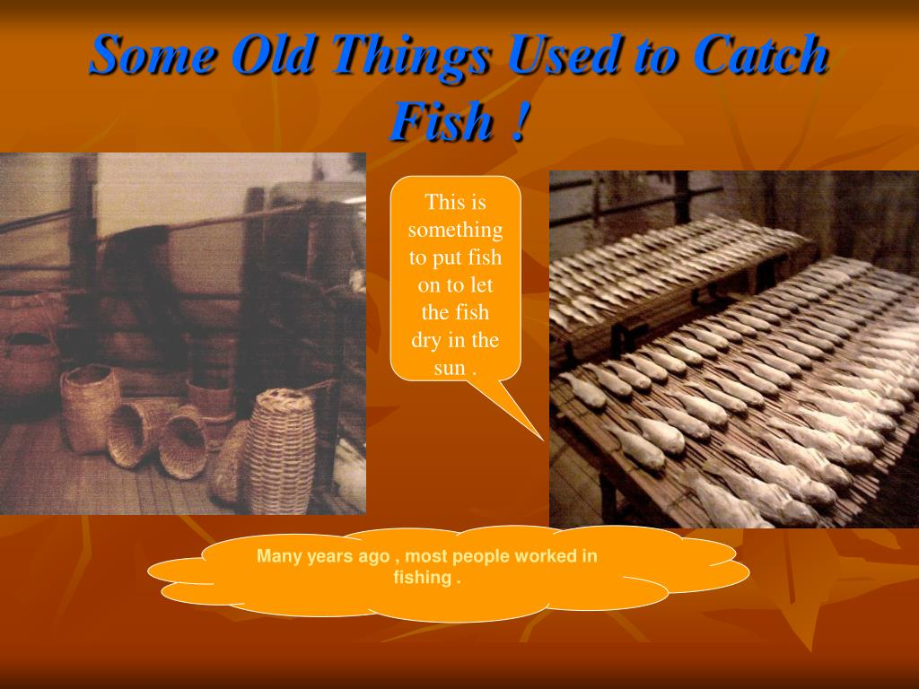 Some Old Things Used to Catch Fish !