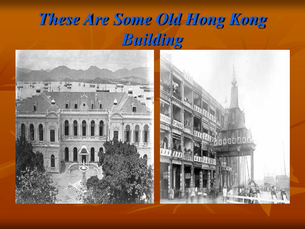 These Are Some Old Hong Kong Building