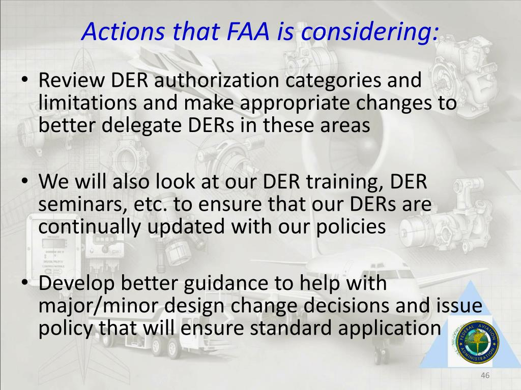 Actions that FAA is considering: