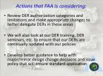actions that faa is considering