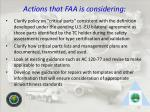 actions that faa is considering47