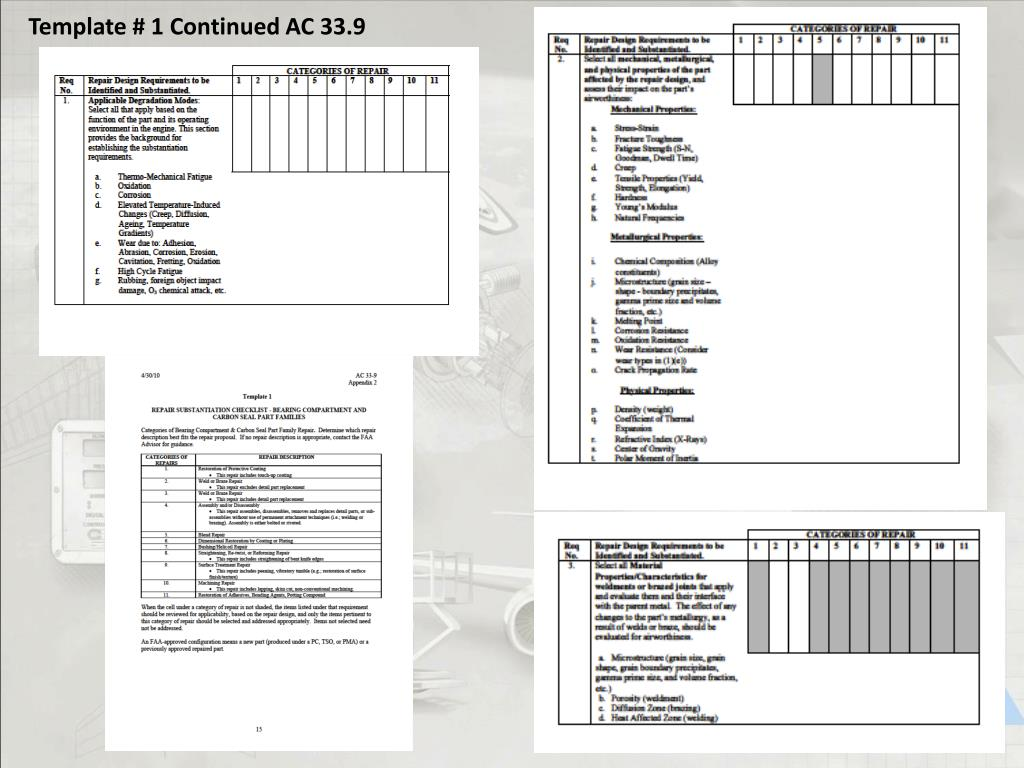 Template # 1 Continued AC 33.9