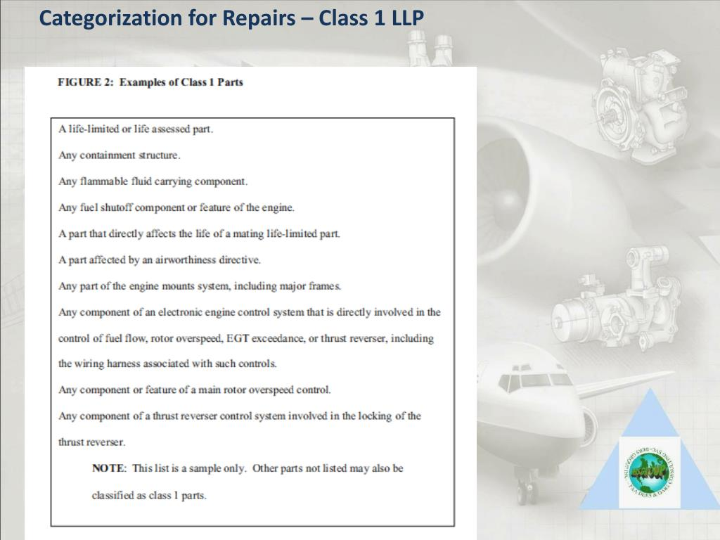 Categorization for Repairs – Class 1 LLP