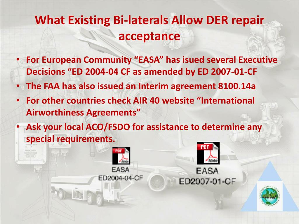 What Existing Bi-laterals Allow DER repair acceptance
