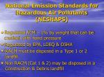 national emission standards for hazardous air pollutants neshaps