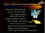 direct injection engine deposits