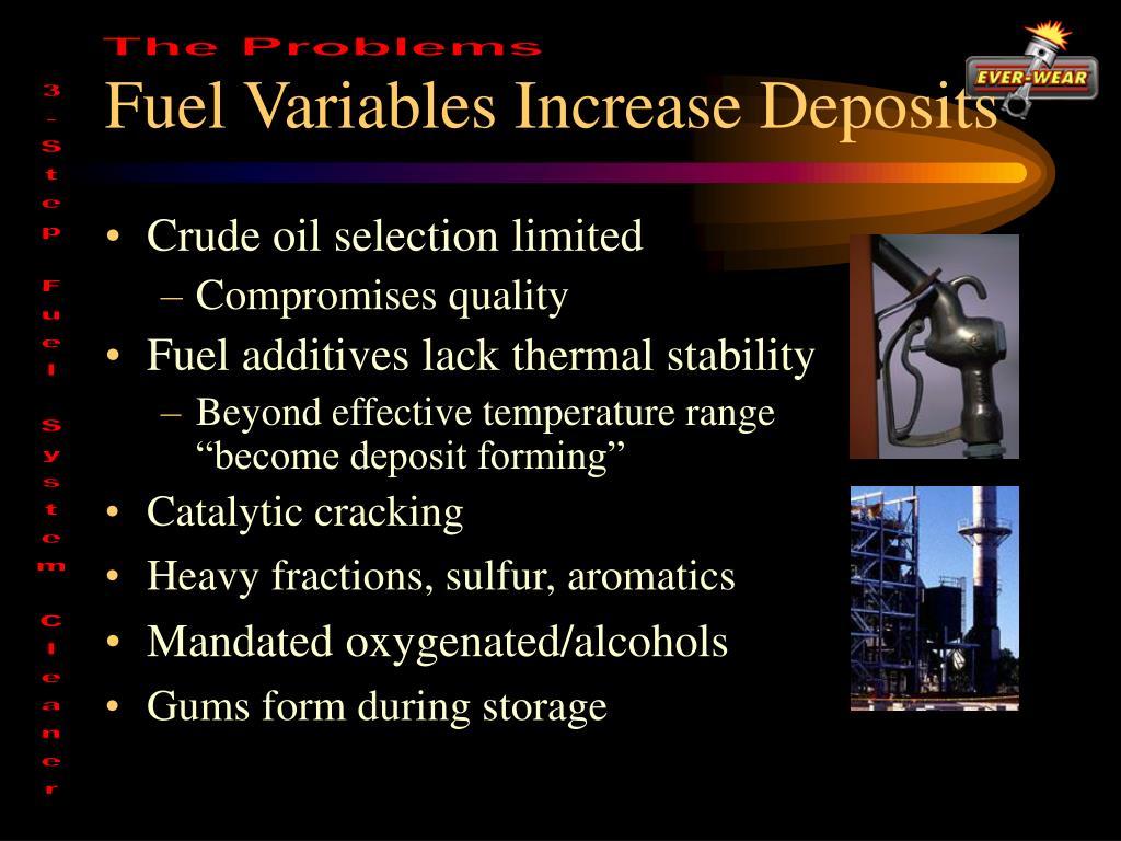 Fuel Variables Increase Deposits