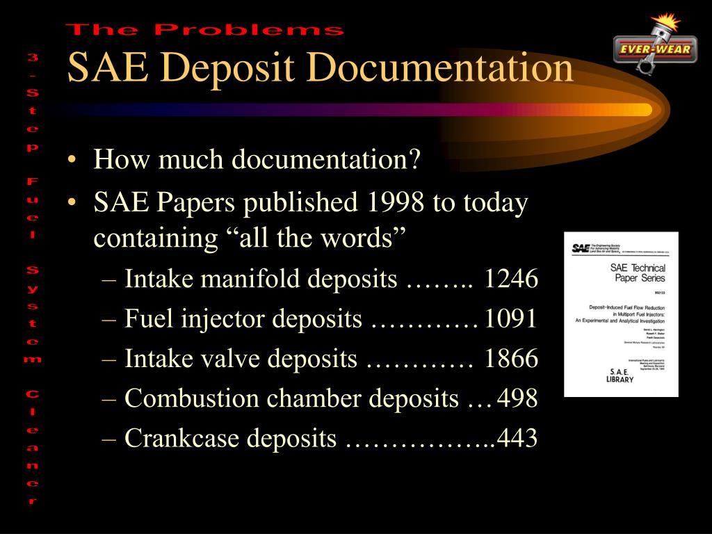SAE Deposit Documentation
