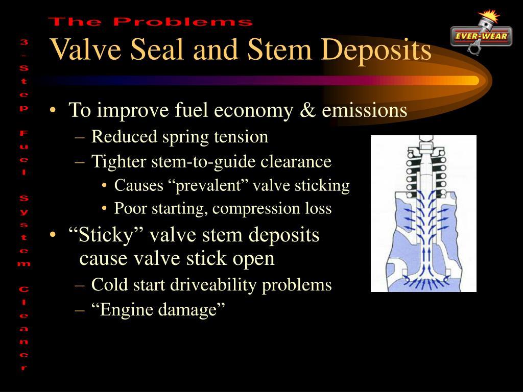 Valve Seal and Stem Deposits
