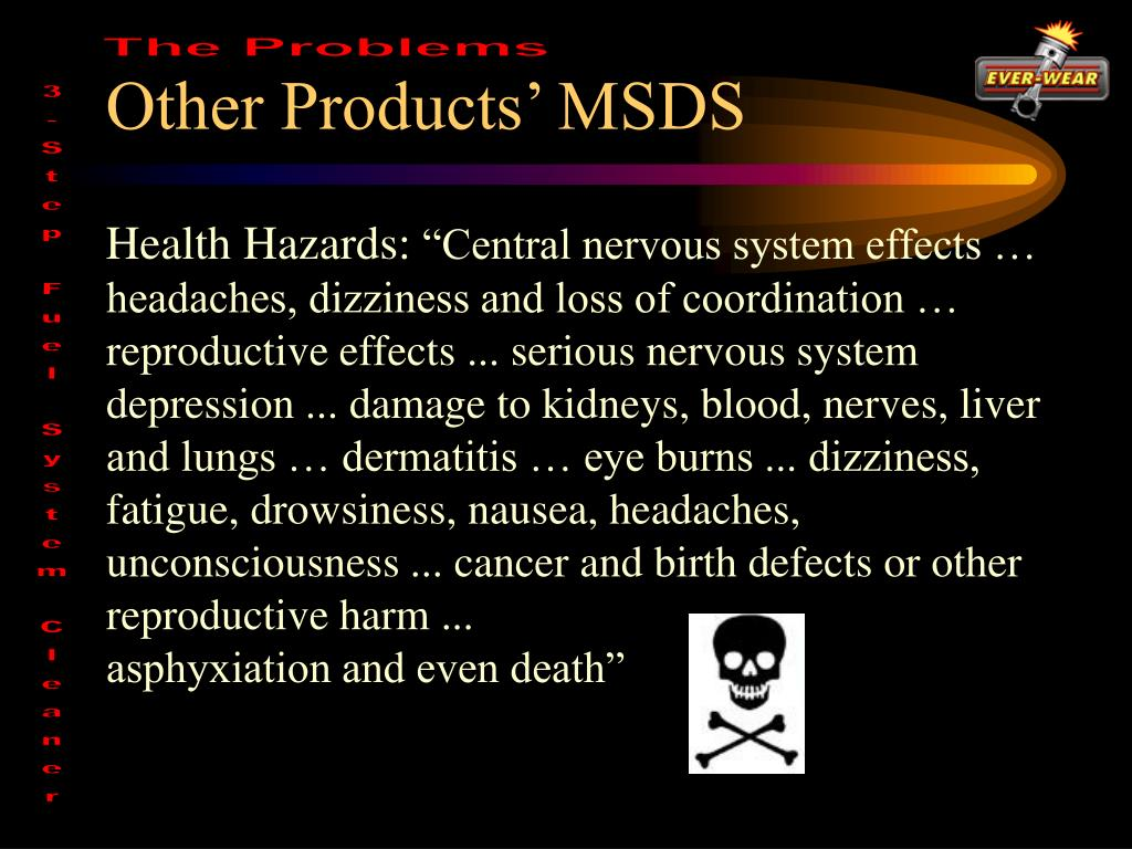 Other Products' MSDS