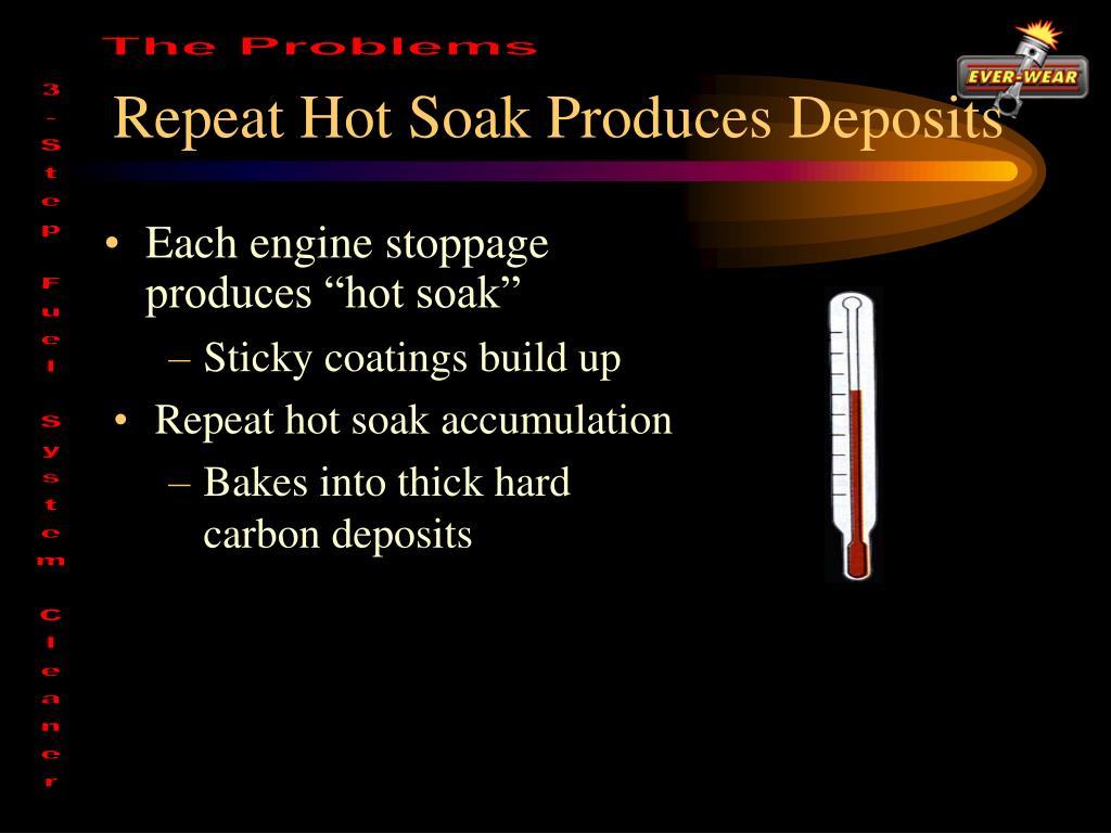 Repeat Hot Soak Produces Deposits