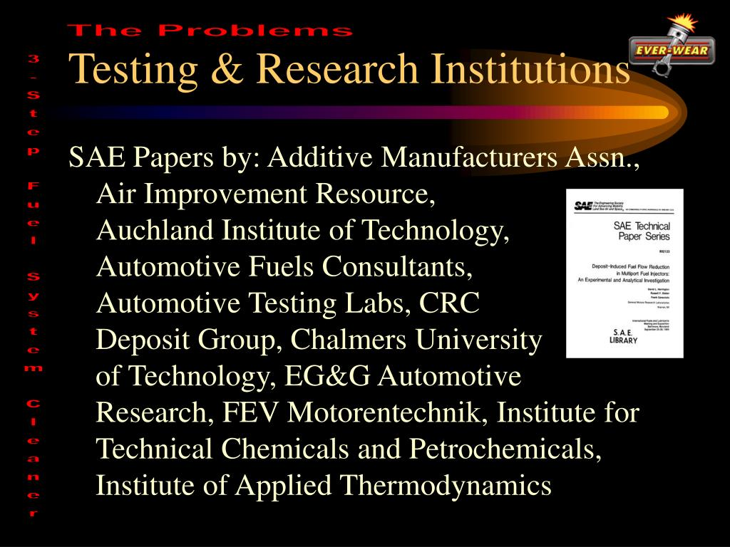 Testing & Research Institutions