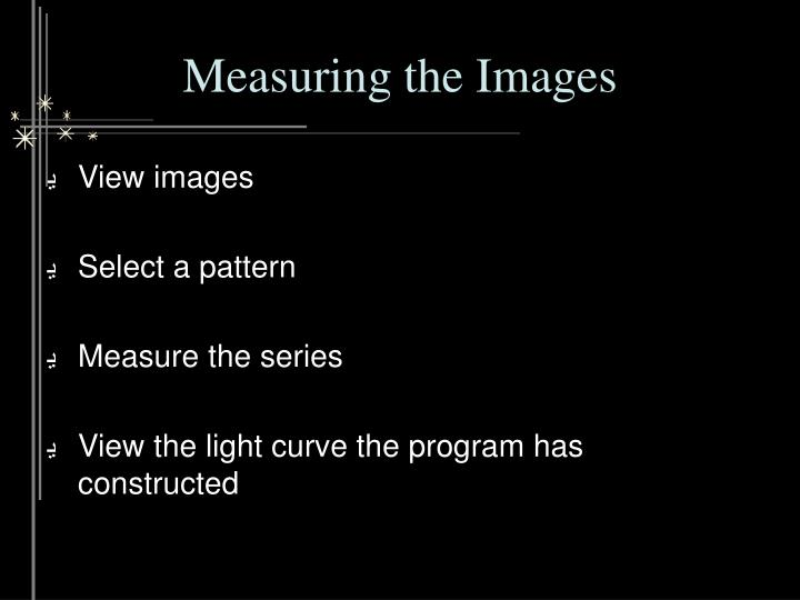 Measuring the Images