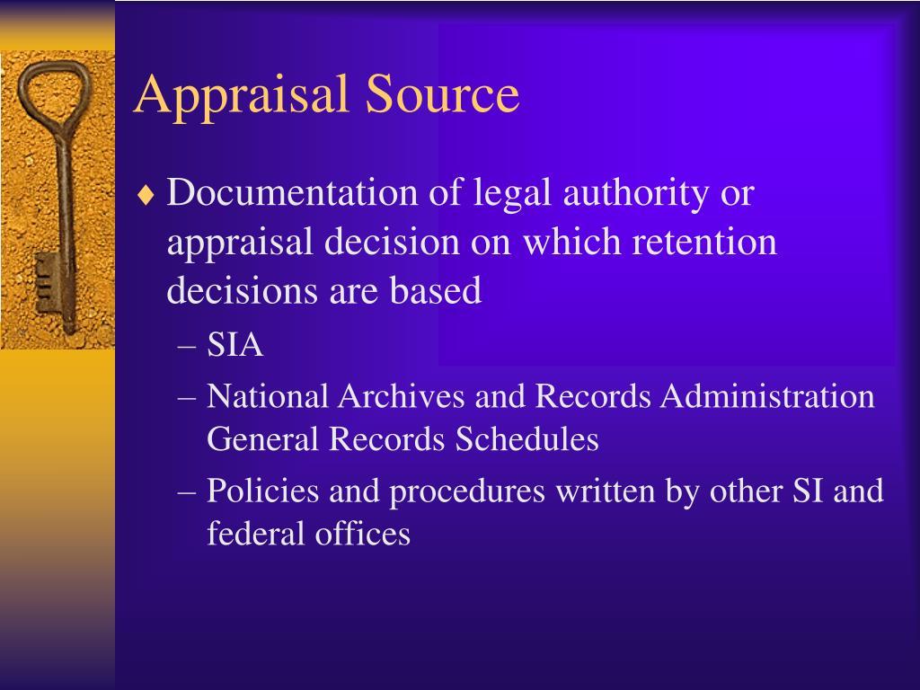 Appraisal Source