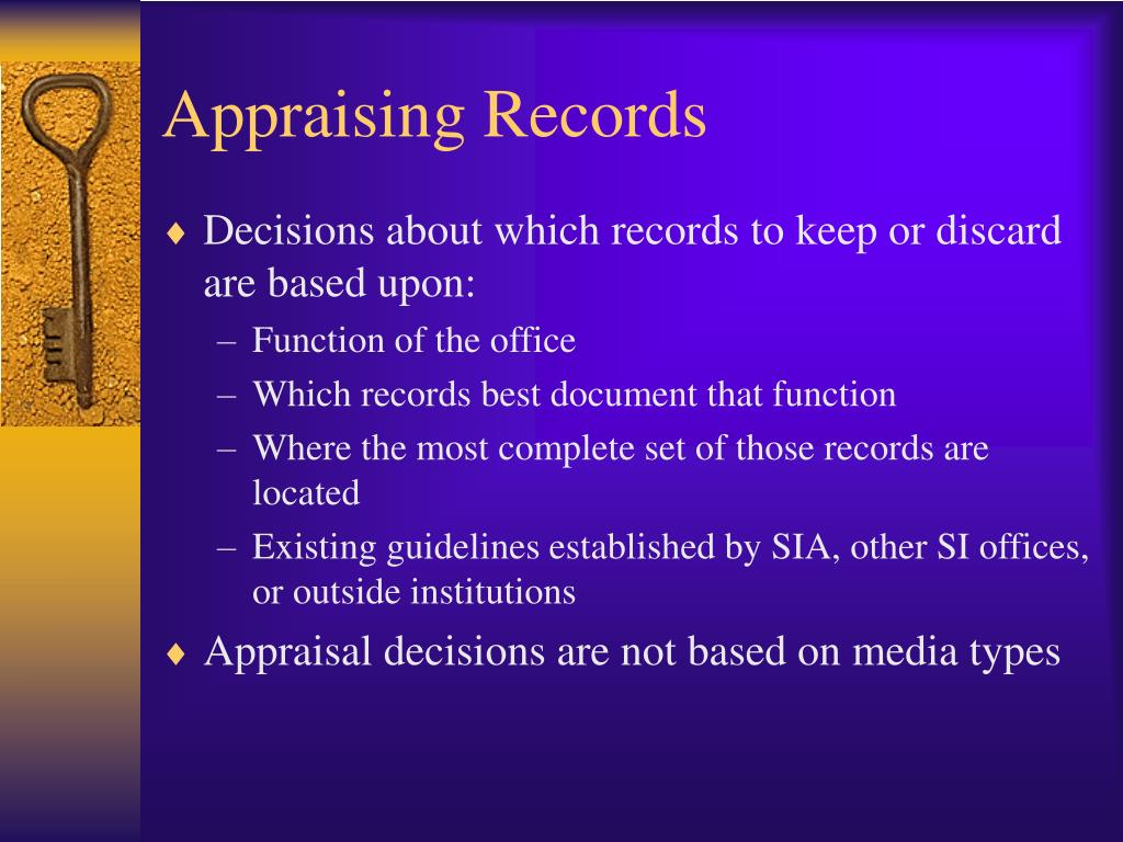 Appraising Records
