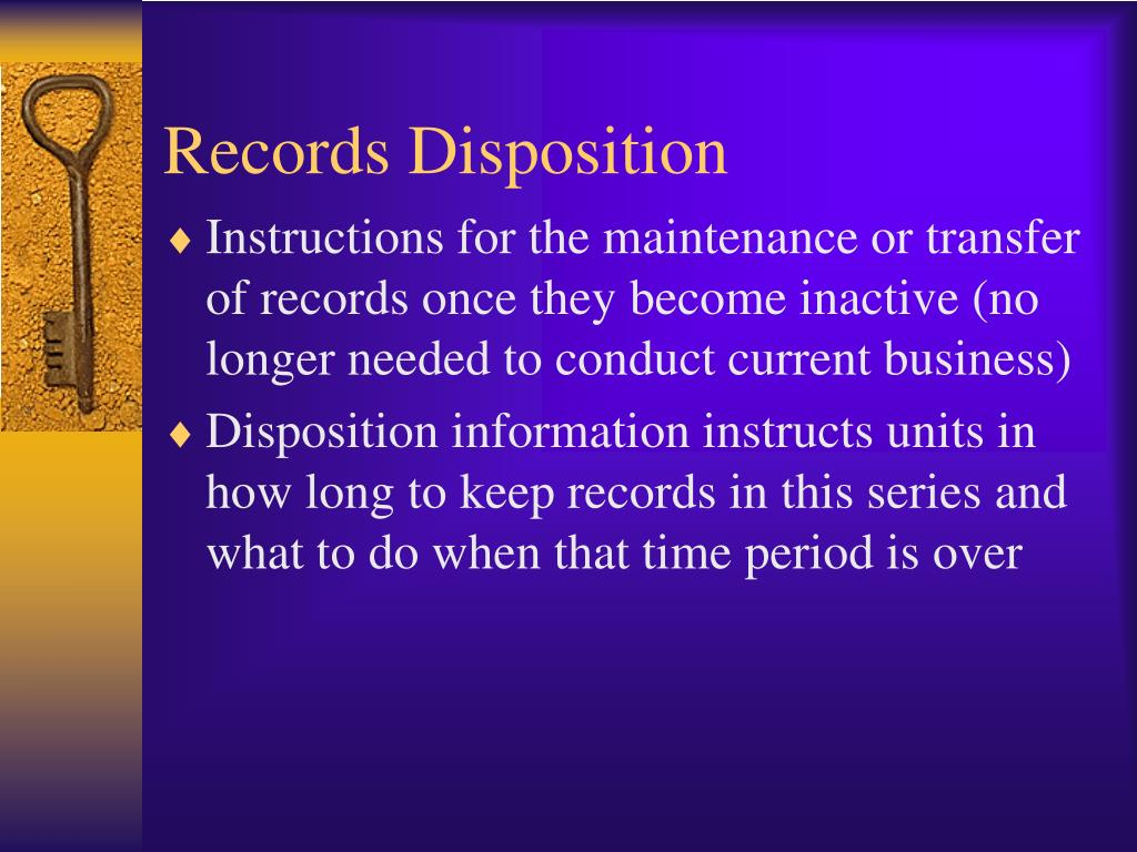 Records Disposition