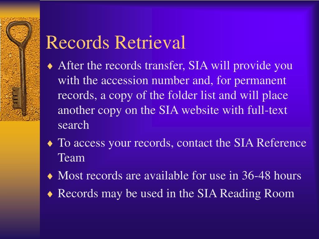 Records Retrieval
