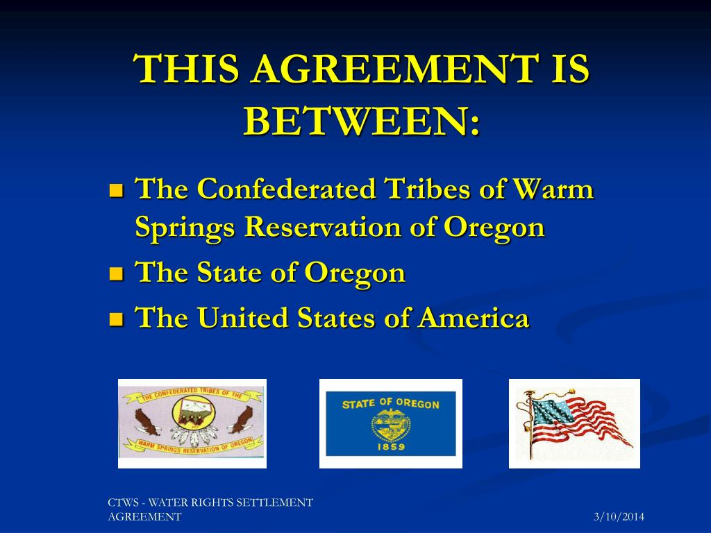 THIS AGREEMENT IS BETWEEN: