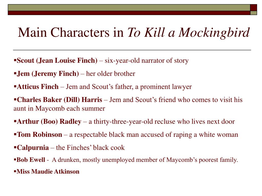 Main Characters in