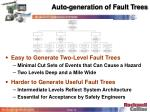 auto generation of fault trees