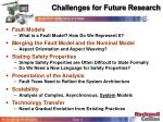 challenges for future research