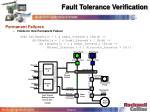 fault tolerance verification31