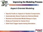 improving the modeling process41
