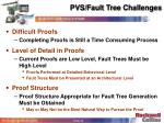 pvs fault tree challenges