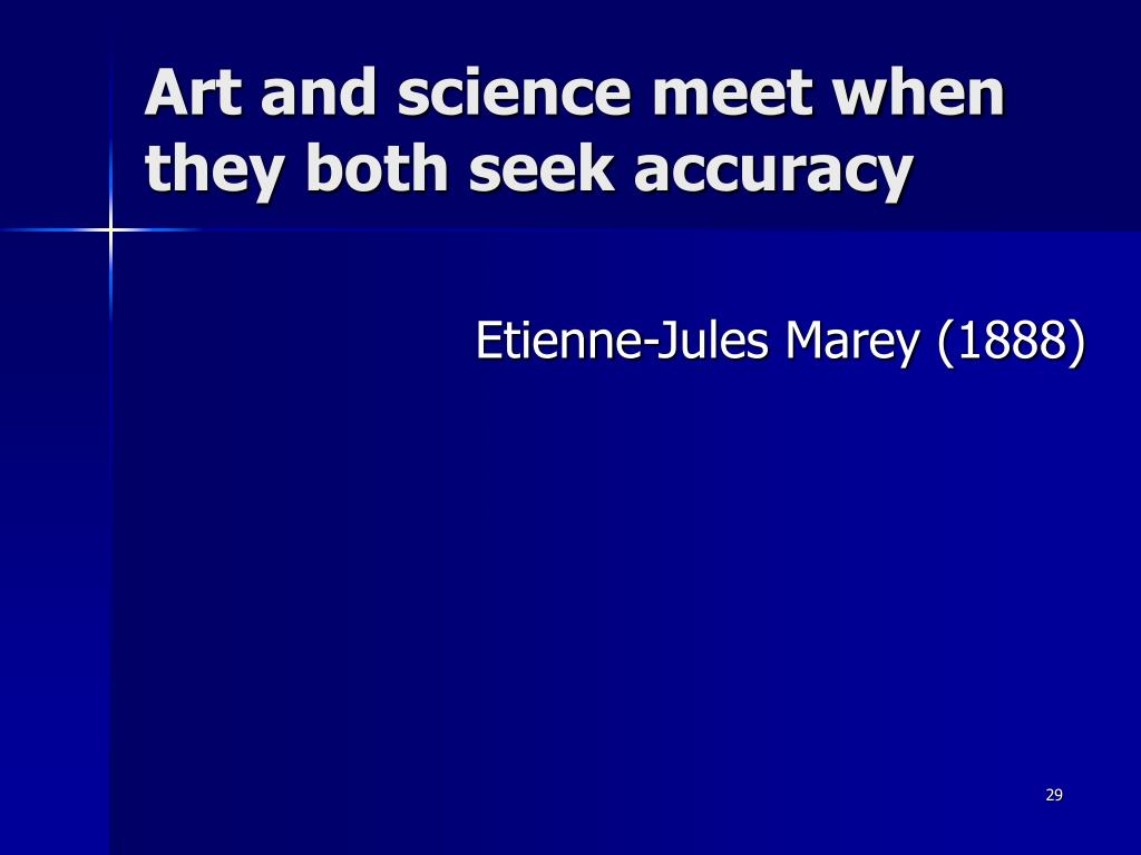 Art and science meet when they both seek accuracy