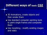 different ways of basic cgi