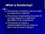 what is rendering